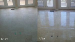 Stone, Tile & Grout Cleaning before and after work 2
